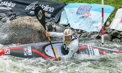 Plata para Samuel Hernanz en Kayak masculino en la Copa del Mundo de Canoe Slalom de la Seu d'Urgell