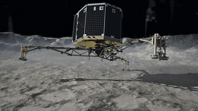 Módulo de aterrizaje Philae de la misión Rosetta. / ESA