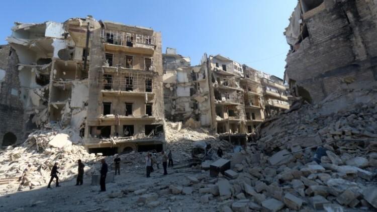 Ruinas en Alepo tras bombardeos y combates. Imagen de archivo