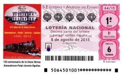 Sorteo de lotería nacional 8 de agosto de 2015
