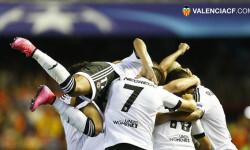 Victoria del Valencia CF ante el Mónaco en la ida de los play-offs de la Champions  3-1