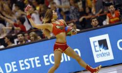 animadoras de baloncesto basket lovers  Selección Española de basket con victoria an (13)