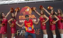 animadoras de baloncesto basket lovers  Selección Española de basket con victoria an (4)