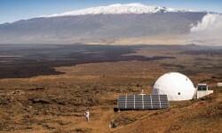 La cúpula en la isla de Hawái donde los astronautas pasarán un año simulando las condiciones de vida en Marte AFP NEIL SCHEIBELHUT