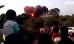 Un avión se estrelló durante un festival familiar