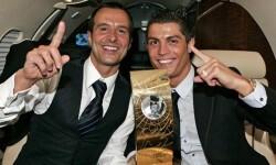 Jorge Mendes, el agente más famoso del mundo, junto a su pupilo Ronaldo