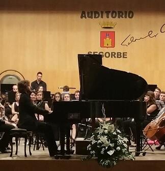 Actuación de la Joven Orquesta de la FSMCV en Segorbe.
