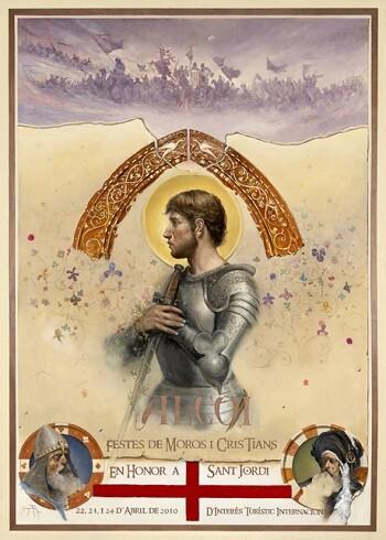 Cartel de fiestas de Alcoy.