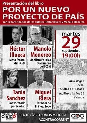 Cartel de presentación del libro de Héctor Illueca y Manuel Monereo.