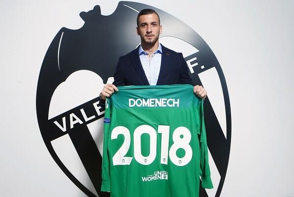 Doménech renueva su contrato con el Valencia CF hasta el 2018.