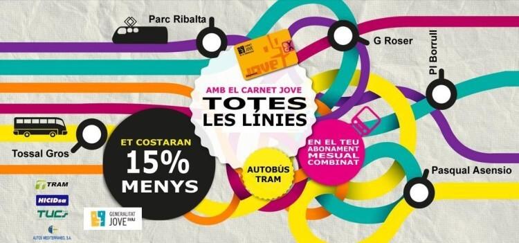 El IVAJ activa el Bono 30 DÍAS JOVE en el transporte público de Castellón