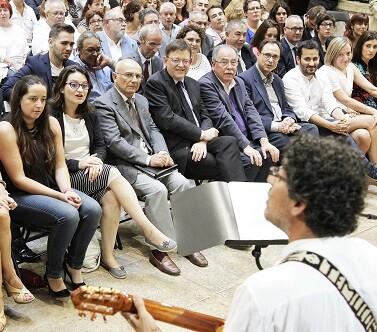 El President Puig estableció un paralelismo entre los refugiados actuales y los españoles.