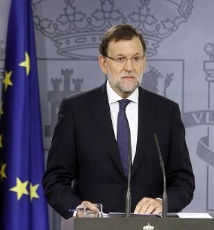 El presidente del Gobierno, Mariano Rajoy, realiza una declaración para valorar el resultado de las elecciones catalanas.