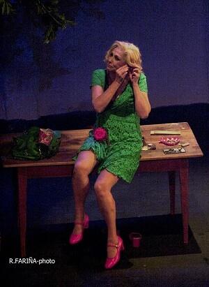 En 'Legionaria', Barranco, interpreta a Hortensia Romero, una prostituta que cuenta su vida. (Foto-R.Fariña-Valencia Noticias).