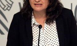 La vicepresidenta de la Generalitat Valenciana, Mònica Oltra, no vol valorar les eleccions catalanes per no interferir en la campanya. / JOSÉ SOLER / ACN