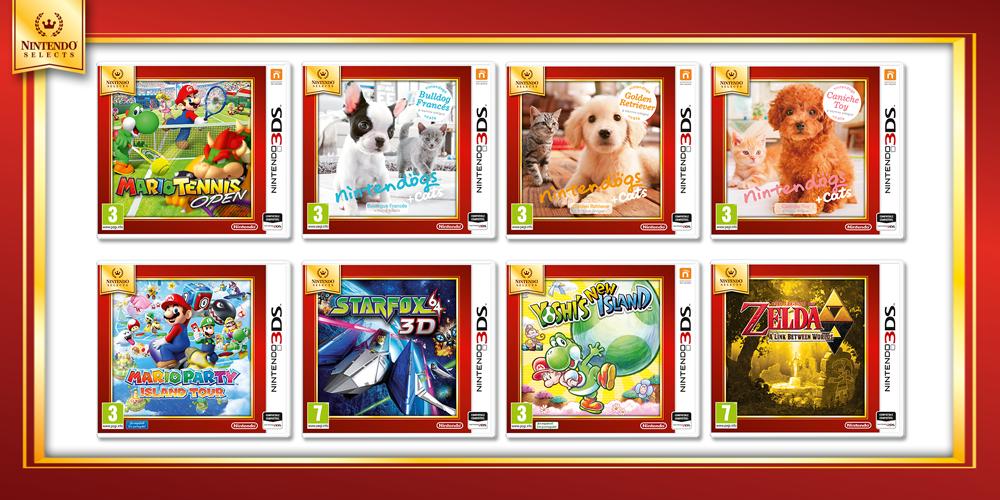 Grandes juegos a bajos precios con Nintendo Selects para Nintendo 3DS