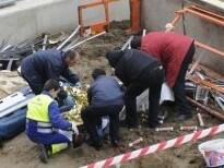 accidente laboral en la construccion.  vitoria 30-11-10 igor aizpuru