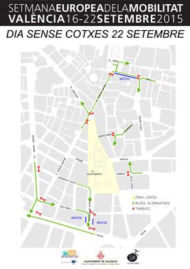 La Semana de la Movilidad comienza esta misma tarde, con un pasacalle que partirá a las 19 horas desde la Estación del Norte y que concluirá en la Estación Pont de Fusta.