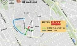 La calle San Vicente, entre Periodista Azzati y la Sangre, estará cortada hasta diciembre.
