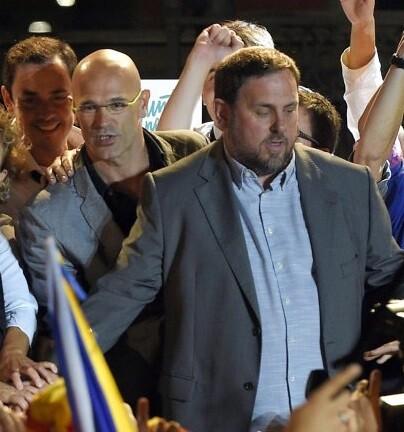 La coalición Junts pel Sí obtuvo la mayoria de votos.