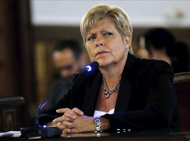 La exconsellera de Turismo Milagrosa Martínez durante el juicio de Fitur