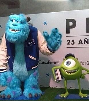 La exposición presentaba un recorrido por los principales largometrajes que ha producido Pixar.
