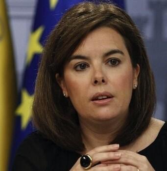 La vicepresidenta del Gobierno, Soraya Sáenz de Santamaría, tras el Consejo de Ministros.