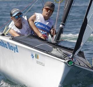 Los holandeses Rolf Schrama y Sandra Nap se sitúan a la cabeza de la clasificación. (Foto-José Jordán).