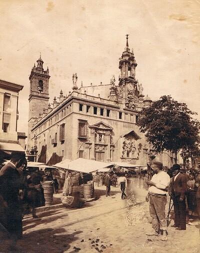 Mercat de València. Fotografia Esplugas. Ca. 1888