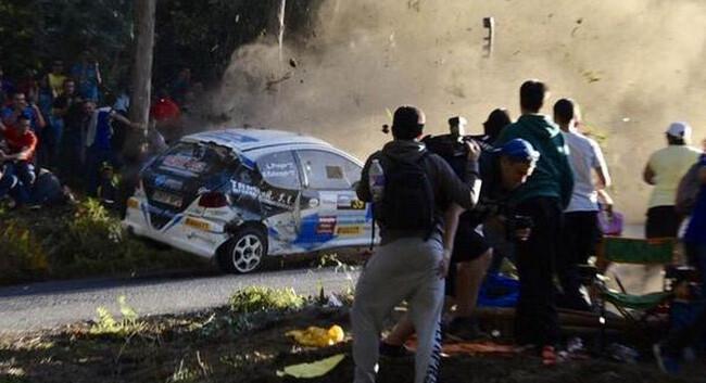 Mueren seis espectadores del Rally de A Coruña arrolladas por un coche