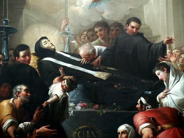 Muerte del Beato Gaspar Bono, obra  del pintor Maella. Museo de Bellas Artes de Valencia.