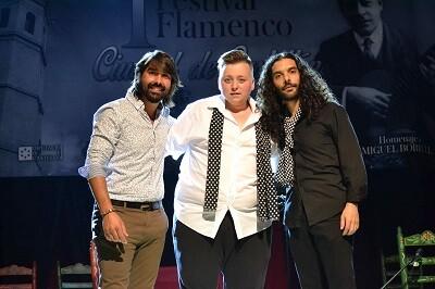 Niño de Aurora, Daniel el Rubio y Fosi, finalistas del concurso.