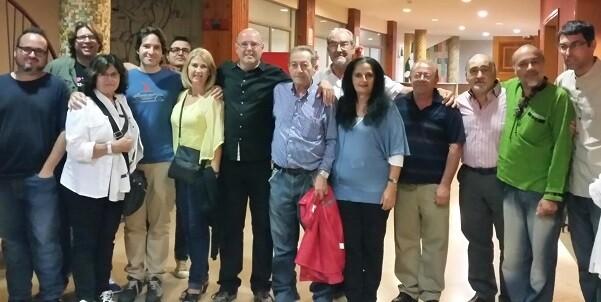 Organizadores y realizadores poco antes de la celebración del la gala cinematográfica.