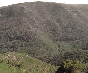 Paisaje de la Sierra de Chiva.