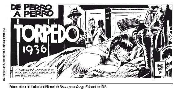 Primer viñeta del cómic aparecida en 1982.