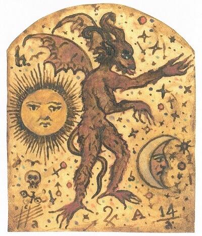 Representación mágica idealizada del demonio.