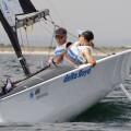 Rolf Schrama y Sandra Nap, campeones de Europa de Vela Paralímpica.(Foto-José Jordán).