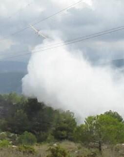 Sobre las 16,30 horas el fuego fue dado por controlado en su totalidad.