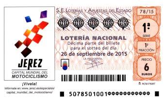 Sorteo de lotería nacional Jerez de la Frontera 26 de septiembre de 2015