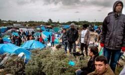 Un campamento de refugiados en Calais, Francia. AFP