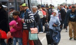Una nueva oleada de refugiados llega a Austria.