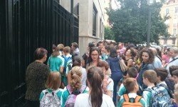 entrada colegio alumnos