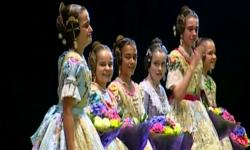 rostros de emoción en  Corte de honor y candidatas a Fallera Mayor Infantil de Valencia fallas (14)