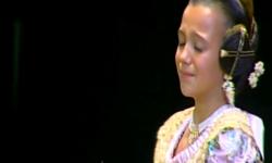 rostros de emoción en  Corte de honor y candidatas a Fallera Mayor Infantil de Valencia fallas (24)