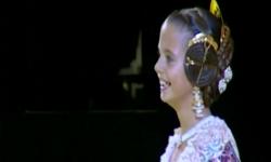 rostros de emoción en  Corte de honor y candidatas a Fallera Mayor Infantil de Valencia fallas (28)