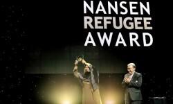 Aqeela Asifi recibió de manos de António Guterres, Alto Comisionado de Naciones Unidas para los Refugiados, el Premio Nansen para los Refugiados 2015.
