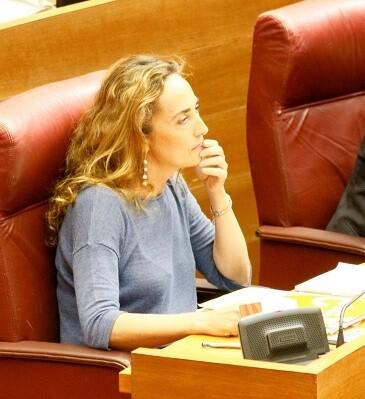 Carolina Punset en Les Corts Valencianes.