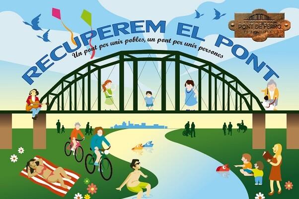 Cartell de la bicicletada lúdica al pont de Fortaleny.