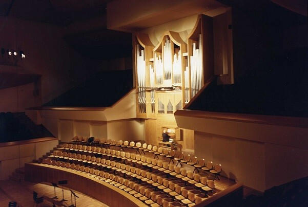 Concierto audiovisual en el Palau de la Música con motivo del 25 aniversario del gran órgano Grenzing.