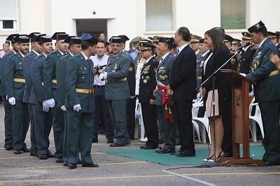 El acto se celebró en el acuartelamiento de Cantarranas, junto al puerto, y en él estuvieron presentes los máximos responsables del instituto armado.